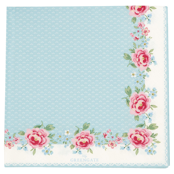 GreenGate Paper Napkin Meryl White Large 20 Pieces 33 x 33 cm