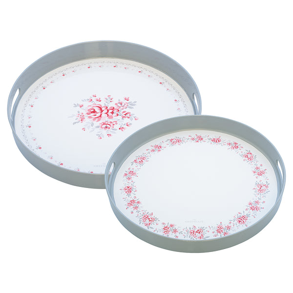 GreenGate Tray Flora Vintage Round Set Of Two Pieces L 34 cm