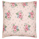 GreenGate Cotton Quilted Cushion Cover Marley Pale Pink 50 x 50 cm