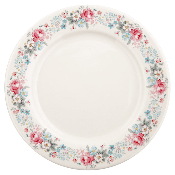 GreenGate Stoneware Dinner Plate Marie Pale Grey D 25.6 cm