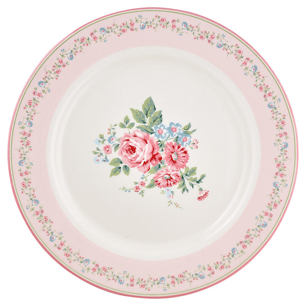 GreenGate Stoneware Dinner Plate Marley Pale Pink D 25,3 cm