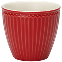 GreenGate Stoneware Latte Cup Alice Red H 9 cm