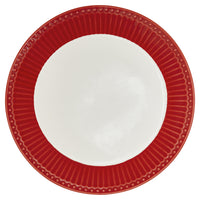 GreenGate Stoneware Plate Alice Red D 23.5 cm