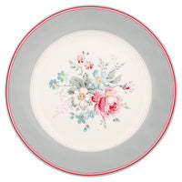 GreenGate Stoneware Plate Marie Grey D 20,5 cm