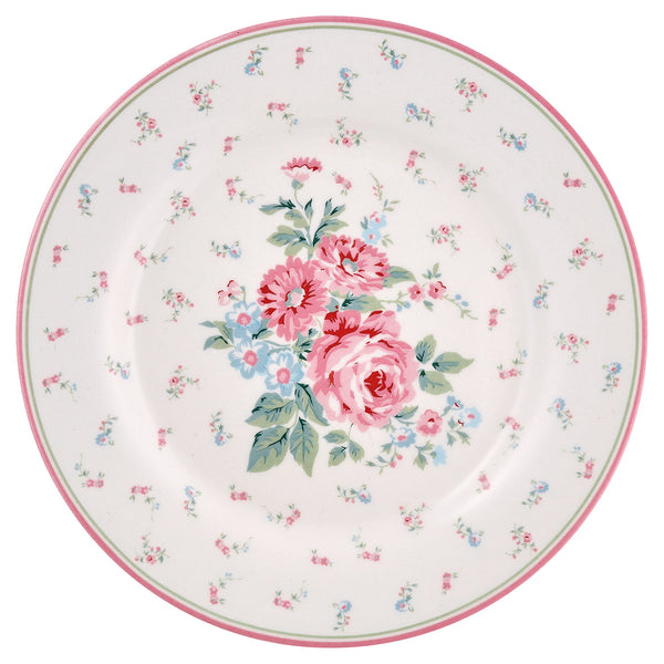 GreenGate Stoneware Plate Marley White D 20,5 cm
