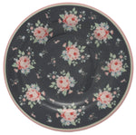 GreenGate Stoneware Small Plate Marley Dark Grey D 15 cm - Limited Edition Mid-season Collection