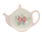 GreenGate Stoneware Teabag Holder Marley Pale Pink W 13 cm - Limited Edition Mid-season Collection