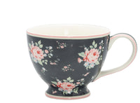 GreenGate Stoneware Teacup Marley Dark Grey H 9 cm - Limited Edition Mid-season Collection