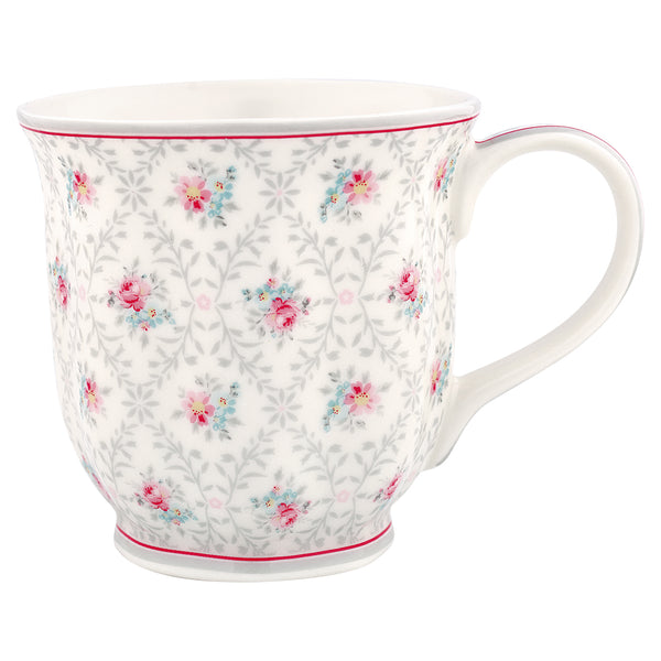 GreenGate Stoneware Tea Mug Daisy Pale Grey H 9 cm