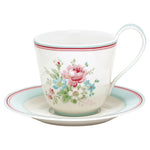 GreenGate Stoneware Cup And Saucer Marie White H 9 cm