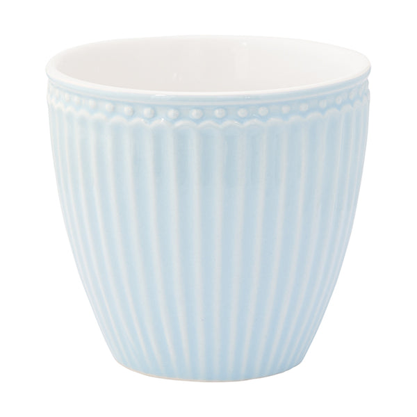 GreenGate Stoneware Latte Cup Alice Pale Blue H 9 cm