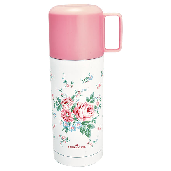 GreenGate Thermos Bottle Marley White 350 Ml H 20 cm