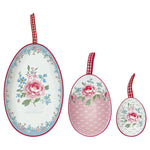 GreenGate Tin Egg Set of 3 Meryl White L 13 cm