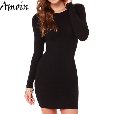 Autumn Winter Sexy Casual Vestidos Long Sleeve