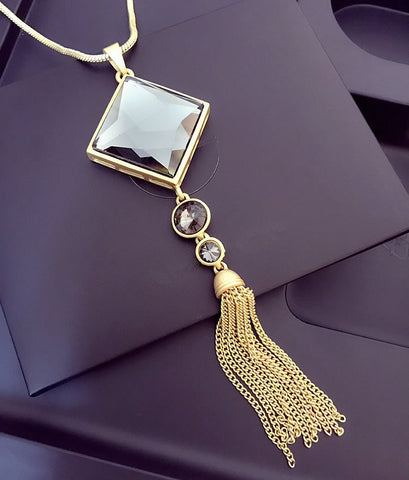 High-grade Elegant Fashion Tassel Sweater Chain Long Necklace Pendant Jewelry