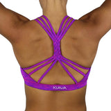 KIAVA Braided Crop Fuschia Front