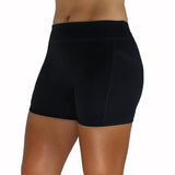 KIAVA Deep Pocket Shorts Black Front