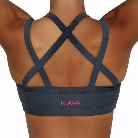 KIAVA Endurance bra crop charcoal grey back