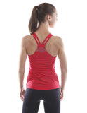 j.lindeberg cora tech sports tank coral back