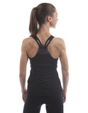 j.lindeberg cora tech sports tank black back