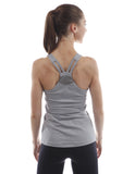 j.lindeberg cora tech sports tank grey back