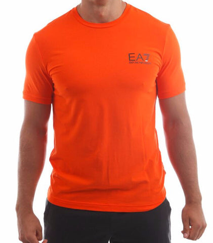 emporio armani ea7 mens train core tshirt orange fibre 15