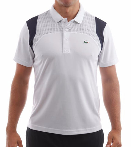 lacoste mens panel polo shirt