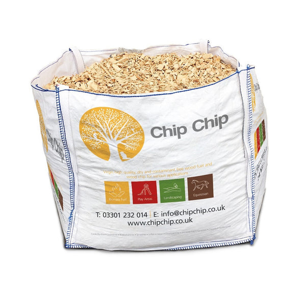 Landscape Wood Chip- Bulk density typically 172kg/m3 per bag