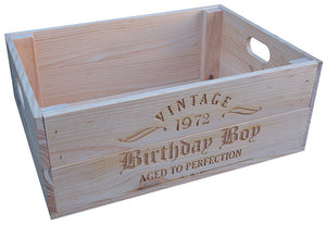 Personalised Wooden Crate 1
