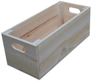 Narrow Shallow Crate (natural)