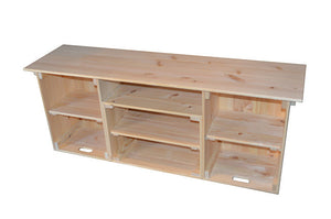 Wooden Crate Entertainment Unit (natural)