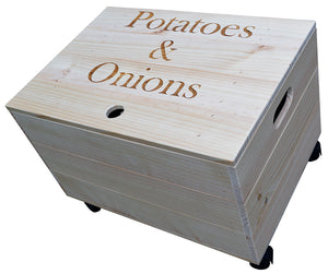 Potato & Onion Crate with Lid and Castors