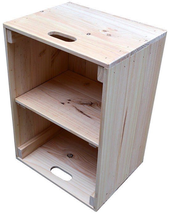 Crate with Shelf (natural)