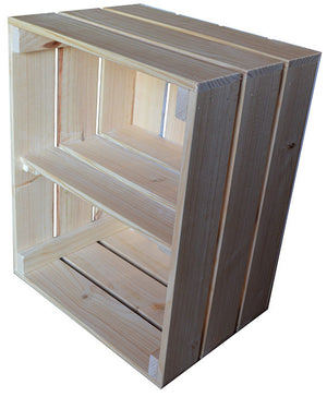 Vegetable Crate with Shelf (natural)