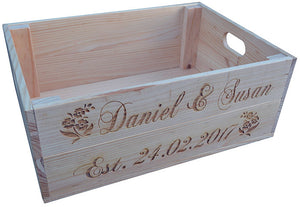 Personalised Wooden Crate 2