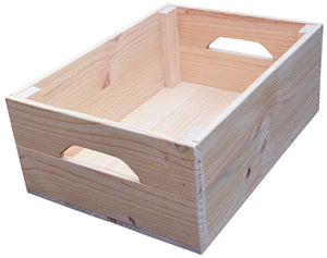 Wooden Farmhouse Crate (natural)