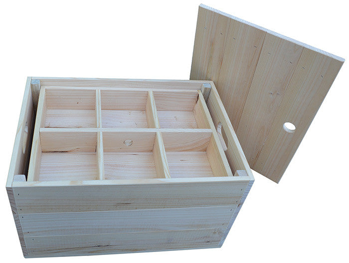 Crate with tray Insert and lid 1 (natural)