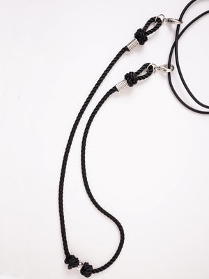 ROPE NECKLACE ATTACHMENT FOR FACE MASKS *BLACK