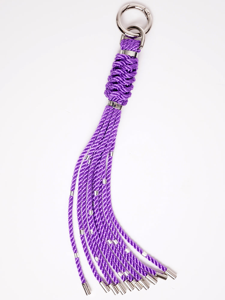 'CAT-O-NINE' WHIP CHARM *BLACK *LILAC