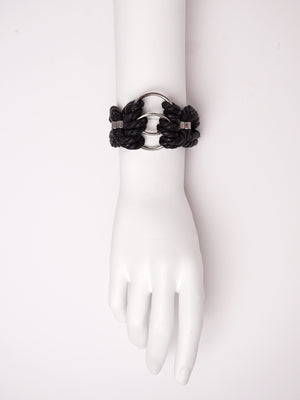 'ORI' CHOKER & CUFF SET *BLACK