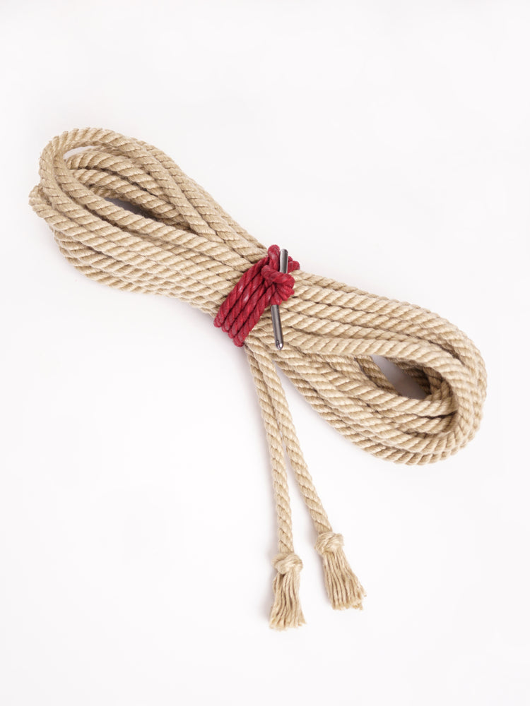BONDAGE ROPE WITH FINISHED ENDS *NATURAL
