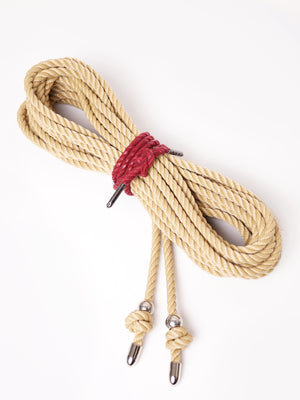 BONDAGE ROPE WITH BEAD&TIP *BEIGE