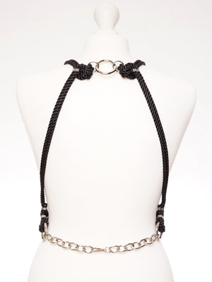 'SAN' HARNESS *BLACK *LILAC