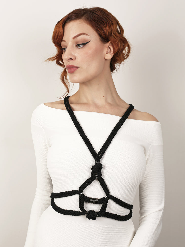 'TAZUKI' CROSS HARNESS BLACK