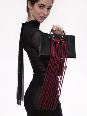'TOTSU' TOTE WITH DETACHABLE WHIP *CABERNET