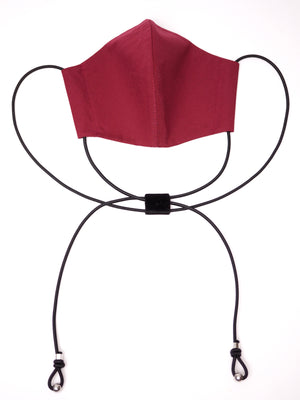 TIED COTTON FACE MASK *BLACK *RED *BURGUNDY