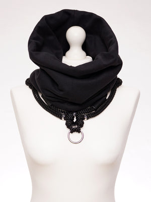 SHIBARI SNOOD WITH DETACHABLE SELF-TIE HARNESS