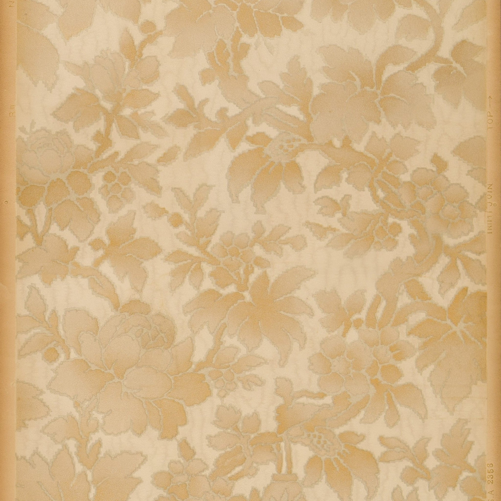 Soft Embossed Abstract Floral Foliate Antique Wallpaper Bolling Dev