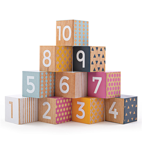 BigJigs- Wooden Number Blocks - 100% FSC