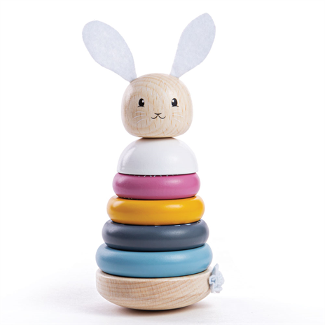 BigJigs- Rabbit Stacking Rings - 100% FSC